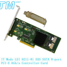 NEW IT Mode LSI 9211-8i SAS SATA 8-port PCI-E 6Gb/s Controller Card FREE FROM CA
