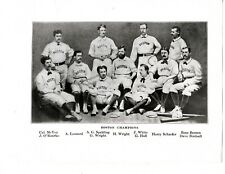 SPORTING NEWS COLLECTION PHOTO OF 1873 BOSTON RED STOCKINGS WITH NEGATIVE