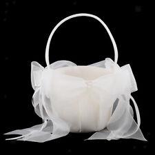 Wedding Flower Girl Basket Flower Satin Gift Box for Event & Party Supplies