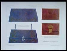 TROUSSES DE COUTURE, ART NOUVEAU -1908 - LITHOGRAPHIE, CUIR, JEHAN RAYMOND,
