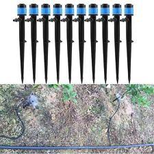 10X Micro 360° Garden Sprinkler Irrigation Fitting Adjustable Dripper Drip Head~