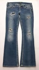 H264 Silver Jeans Pioneer Low Rise Bootcut Stretch sz 30x33 (Mea 32x32.5) Long