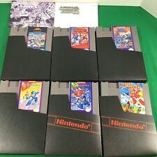 Mega Man 1 2 3 4 5 & 6 100% Original Near Mint Cartridges+ex Capcom NES Nintendo