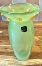 Vintage Marc Aurel Echtkristal Nachtmann hand blown Green art glass vase