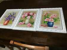 3 Completed Diamond Full Painting Embroidery Cross Stitch Handcraft with Frames