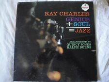 RAY CHARLES GENIUS + SOUL=JAZZ VINYL LP IMPULSE RECORDS MONO FROM THE HEART EX