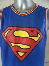 Superman #1 Basketball Jersey DC Comics Vintage Mens Large Comic Book Superhero