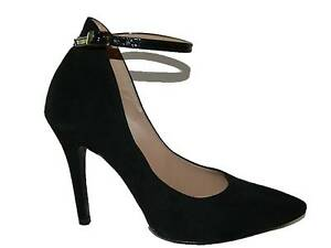 Court Shoes / Women's Shoe With Heel And Strap Suede Made IN Italy