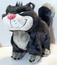 "Cinderella Lucifer The Cat Plush Stuffed Animal 17"" Disney Store Villian Gray"