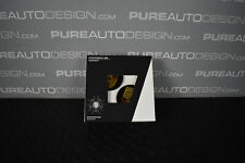 GENUINE Porsche Macan Centre Caps - Gloss Black with Coloured Logo - Set of FOUR
