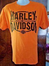 Harley Davidson Motor Cycles Kuwait Orange T-Shirt Pre-Owned
