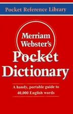 Merriam-Webster's Pocket Dictionary (Pocket Reference Library) by Merriam-Webst