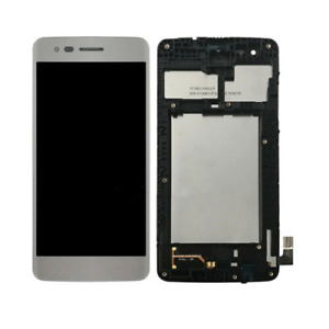 Touch Screen Digitizer LCD Display Frame Silver LG Aristo M210 MS210 LV3 K8 2017