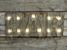 "LIGHT UP WALL SIGN ""BAR"" WALL DECORATION PUB BAR SIGN"