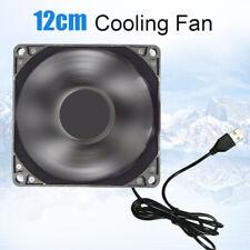 12cm DC 5V USB Cooler Black Silent Cooling Fan  For Desktop PC Computer Case