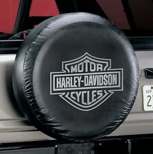 """Universal Gray Harley Davidson Spare Tire Cover Wheel 27"""" - 31"""" New Free Ship"""