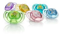 Nuby Prism Pacifier 2 Pack - Orthodontic Silicone Baglet - 0-6 Months - BPA Free