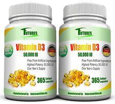 Vitamin d3 50000 IU 2 Flaschen 730  weich Gel Kapseln 5000IU per kapseln