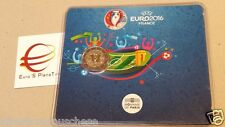 coin card 2 euro 2016 FRANCIA france frankreich UEFA calcio football Fußbal