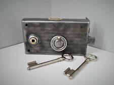 """Ancienne Serrure de Porte """" F.S"""" , Révisée avec 2 Clés, Antique Lock Door"""