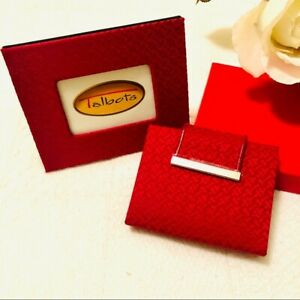 TALBOTS Red Picture Frame & Photo Wallet NWOT
