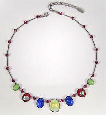 Ovale Modeschmuck-Halsketten & -Anhänger aus Strass mit Beauty-Themen