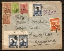 ANGOLA SC  249,252 and others ON REGISTERED COVER to ARGENTINA  FVF
