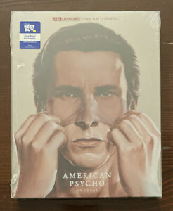 NEW American Psycho Unrated (2000) Best Buy Exclusive 4K UHD Blu-ray Steelbook