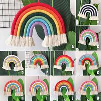 Hand Woven Rainbow Macrame Tapestry Wall Hanging Nursery 11 Type Room Home Decor
