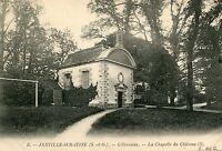 Carte JANVILLE SUR JUINE Gillevoisin La chapelle du château
