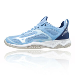 Mizuno Womens Ghost Shadow Court Shoes Blue Sports Netball Breathable