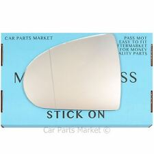 Left passenger side Wide Angle Wing mirror glass for Mitsubishi Colt 2004-2012