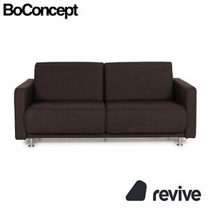 BoConcept Melo Fabric Sofa Braun Two Seater Relaxfunktion Sofa Bed Dark Brown