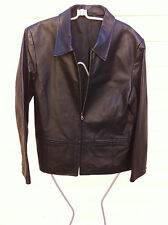 STYLISH TARGET BLACK LEATHER JACKET SIZE: 14 NEAR NEW RRP$129.00
