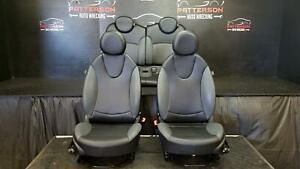 10 MINI COOPER Driver LH & Passenger RH Front & Rear Manual Leatherette Seat Set