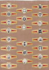 Série complète  Bague de Cigare Vitola Espagne BN115373 Enseigne