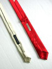 PRIMA OPERA UNISEX Cravatta Tie Slim NUOVA NEW Fatta a Mano Hand Made SETA SILK