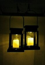 Solarize ® Pack of 2 Solar Lantern Lamp Lights with Clips