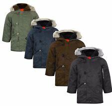Childrens Boys Waterproof Lined Jacket Coat Parka Warm Kids Winter RRP£39