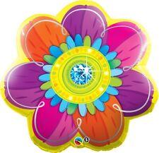 Ballon Alu Qualatex Forme de Fleur Psychédélique 80cm