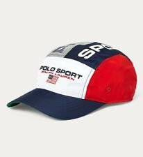Polo Sport Ralph Lauren 5 Panel Hat Cap Limited Edition Flag Silver Red Blue