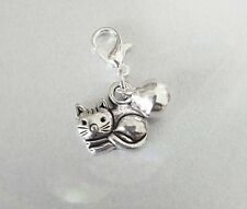 Cat collar charm, Cat Bling, collar tag, cat and bell