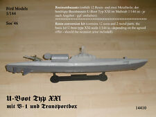 U-Boot Type XXI avec v-1 et boîte de transport 1/144 Bird Models Resin Conversion Kit