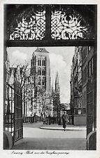 Danzig Zeughauspassage, Frau Strasse Postkarte gel. 1943