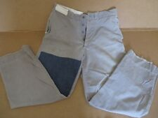 """VINTAGE 40s BUTTON FLY GRAY DISTRESSED WORKWEAR JEANS FARMHAND PANTS 30/34""""W"""