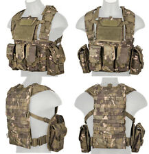 Airsoft Assault Gear MOLLE Tactical Chest Rig with Pouches Tropic Camouflage