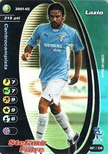 FOOTBALL CHAMPIONS 2001-02 Stefano Fiore 097/230 Lazio FOIL WIZARD
