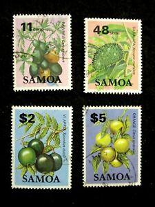 SAMOA - SCOTT# 606,613,616,618 - USED - CAT VAL $10.60