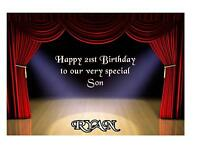 Theatre Birthday Gift Tickets Anniversary A5 Card Personalised Son Daughter Wife