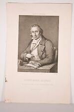 Joseph Marie JACQUARD Lyon 1752-1834, inventeur français, métier à tisser, grav.